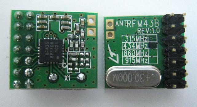 微弱無線送信モジュールRFM43B