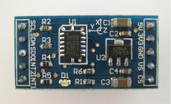 M3AXIS-ADXL345 3軸加速度計モジュール