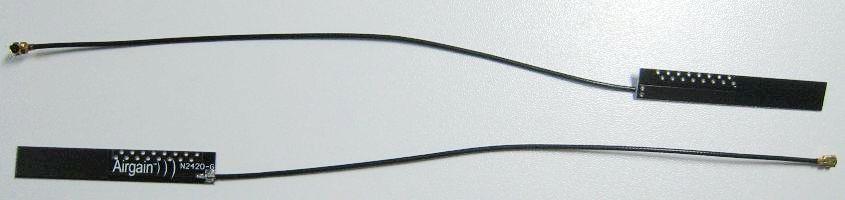 USB無線LAN用の内蔵アンテナ(アメリカAirgainの内蔵N2420dbi)