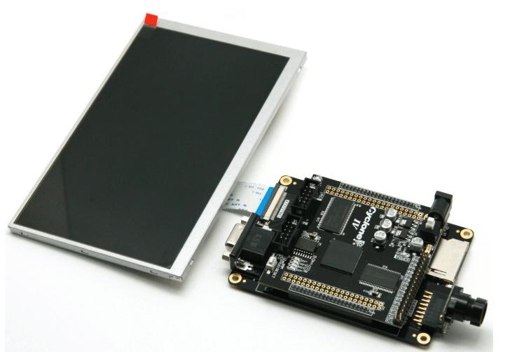 """「送料無料」FPGA/CycloneIV EP4CE15+EPCS64ボード+カメラ拡張ボード+7""""TFT-LCD(豊富な資料付き)"""