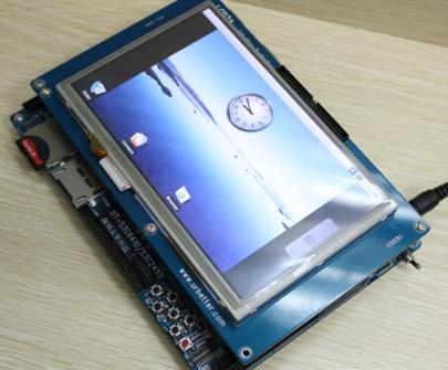 Linux/Android/WinCE/Skype対応マルチ・メディアARM11ボードIdea6410+LCD4.3