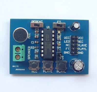 ISD1820録音再生レコーダーモジュール(マイク搭載)