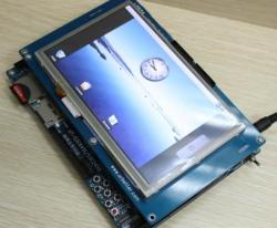 Linux/Android/WinCE/Skype対応マルチ・メディアARM11ボードIdea6410+LCD7