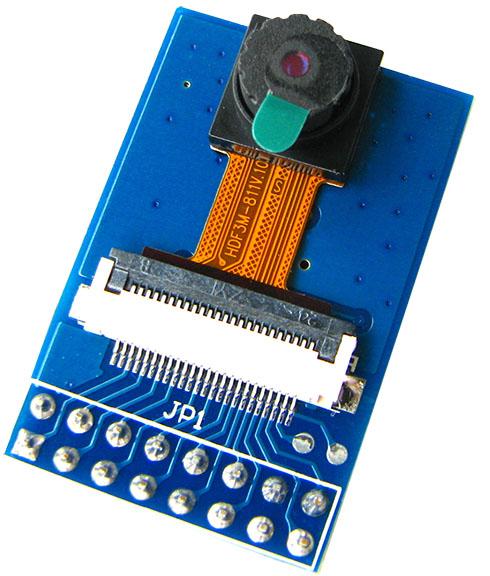 CMOSカメラモジュール(OV2640、200万画素)、STM32F429IGボードと直結可