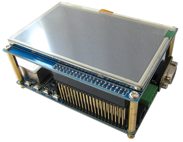 "ARM Cortex-M4/STM32F429開発キット(4.3""TFTタッチパネル付き液晶搭載、CMOSカメラモジュール(OV2640、200万画素)と直結可)"