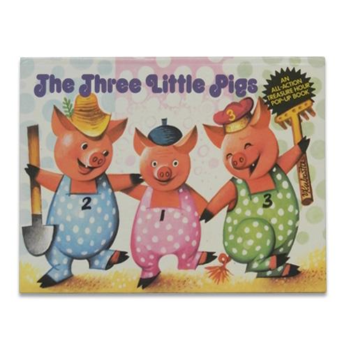 チェコの絶版 ポップアップ絵本 「三匹のこぶた」