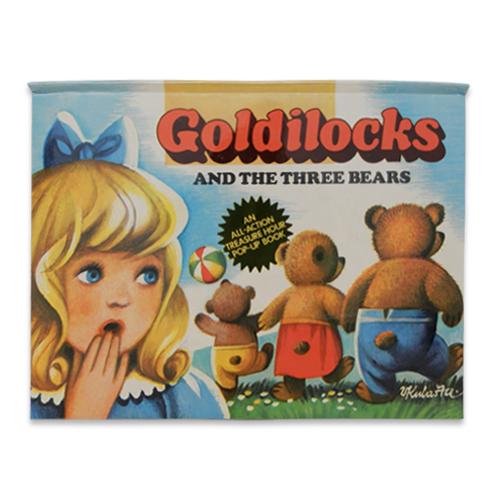 チェコの絶版 ポップアップ絵本 「ゴールディロックスと3匹のクマ」