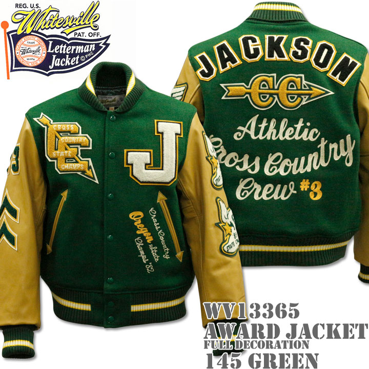 WHITES VILLE(ホワイツビル)AWARD JACKET FULL DECORATION(スタジアムジャンパー)『JACKSON CC』WV13365-145 Green