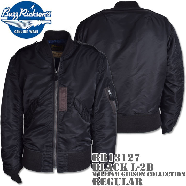 BUZZ RICKSON'S(バズリクソンズ)BLACK L-2B REGULAR (NO STENCIL)『WILLIAM GIBSON COLLECTION』BR13127