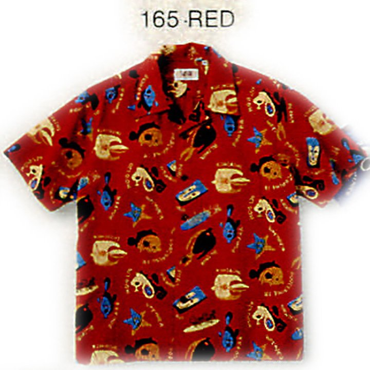 SUN SURF(サンサーフ)COTTON SEERSUCKER OPEN SHIRT『UNDER THE SEA by Masked Marvel』SS37921-165 Red