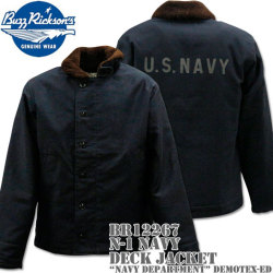 BUZZ RICKSON'S(バズリクソンズ)DECK JACKET N-1 Navy『NAVY DEPARTMENT』DEMOTEX-ED BR12267