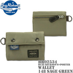 BUZZ RICKSON'S×PORTER(バズリクソンズ×ポーター)WALLET ウォレット BR02534-148 Sage Green