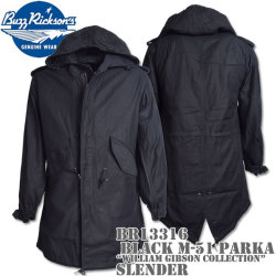 BUZZ RICKSON'S(バズリクソンズ)BLACK M-51 PARKA SLENDER『WILLIAM GIBSON COLLECTION』BR13316