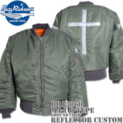 "BUZZ RICKSON'S(バズリクソンズ)フライトジャケット MA-1 D-TYPE『GROUND CREW ""REFLECTOR CUSTOM""』BR13897"
