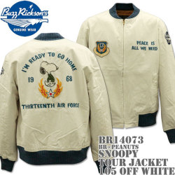 BUZZ RICKSON'S(バズリクソンズ)スヌーピーコラボ BR×PEANUTS『SNOOPY TOUR JACKET』BR14073-105 Off White