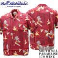 Duke Kahanamoku(デューク カハナモク)アロハシャツ HAWAIIAN SHIRT『SPECIAL EDITION / SOUTH SEA PARADAISE』DK36982-170 Wine