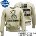 BUZZ RICKSON'S(バズリクソンズ)スヌーピーコラボ スウェット CREW SWEAT『SNOOPY TYPE G-1』BR67134-131 Oatmeal