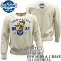 BUZZ RICKSON'S(バズリクソンズ)スヌーピーコラボ スウェット CREW SWEAT『SNOOPY EDWARDS A.F.BASE』BR67132-131 Oatmeal