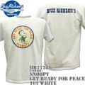 BUZZ RICKSON'S(バズリクソンズ)スヌーピーコラボTシャツ BR×PEANUTS RINGER TEE『GET READY FOR PEACE』BR77286-101 White