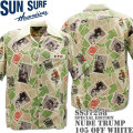 SUN SURF(サンサーフ)アロハシャツ HAWAIIAN SHIRT『SPECIAL EDITION / NUDE TRUMP』SS37258-105 Off White