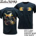 テーラー東洋(TAILOR TOYO)スカTシャツ SUKA T-SHIRT『JAPAN MAP』TT77493-128 Navy