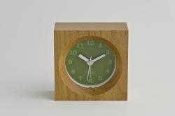 Lemonos(レモノス)  wood alarm(ウッドアラーム) グリーン 置時計