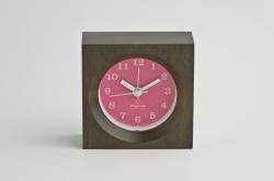 Lemonos(レモノス)  wood alarm(ウッドアラーム) ピンク 置時計