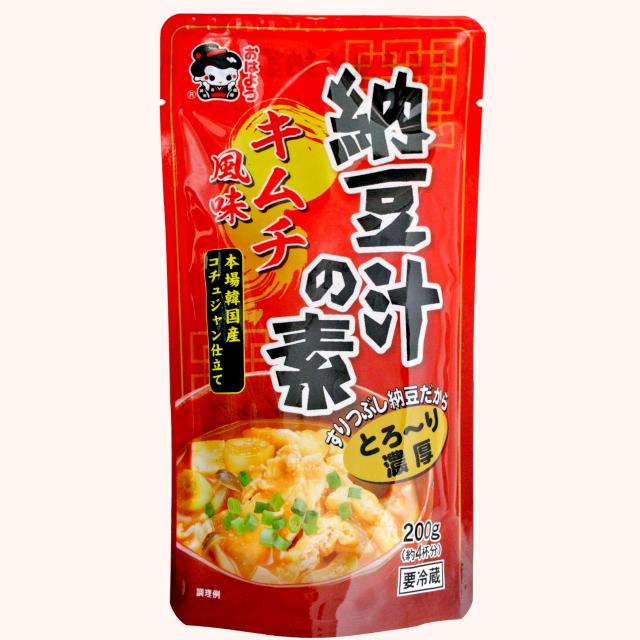 キムチ風味納豆汁