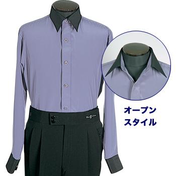 ダンスファッションフジヤマ Newクレリックシャツ(No.843)
