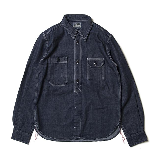 デニム長袖ワークシャツ【5333B】