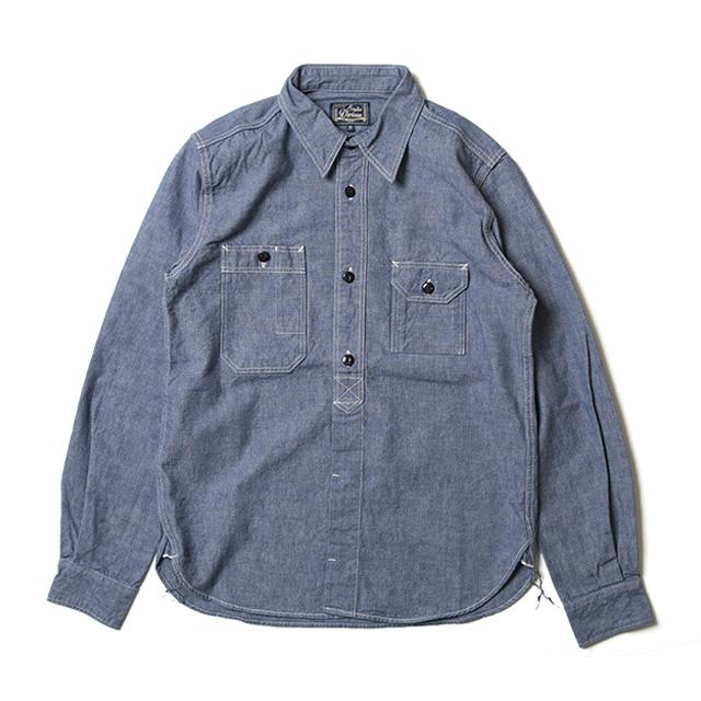 シャンブレー長袖ワークシャツ【5333A】