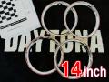 デイトナスタイルリング14インチ メッキ赤ライン【1台分】 品番: DR14CR