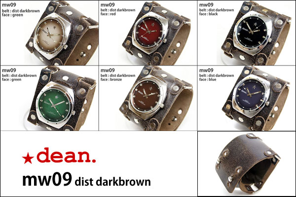 ★dean.腕時計【mw09 dist darkbrown】