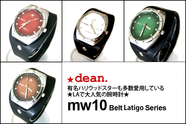 ★dean.腕時計【mw10 Latigo Black】
