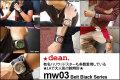 ハリウッドスターも愛用するLAブランド★deanの腕時計(mw03_black)