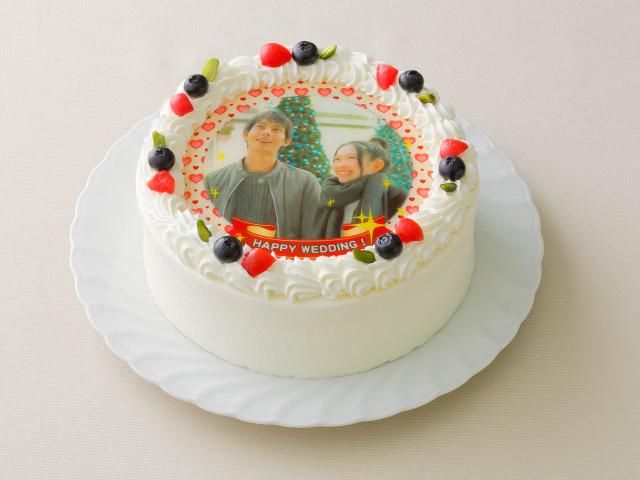 写真ケーキ (6号 18cm) 6~8人様用