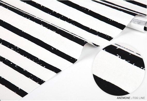 オックス生地カット販売(10cm単位)  ANEMONE - fogline 【生地・布】【カット販売】【ボーダー/ストライプ】