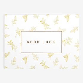 メッセージカード  02 Yellow - good luck 【グリーティング】【ラッピング】【ミニサイズ】