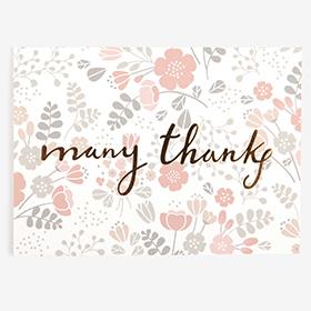 メッセージカード  15 Pink - many thanks 【グリーティング】【ラッピング】【ミニサイズ】