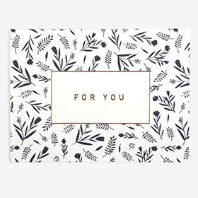 メッセージカード  17 Navy - for you 【グリーティング】【ラッピング】【ミニサイズ】