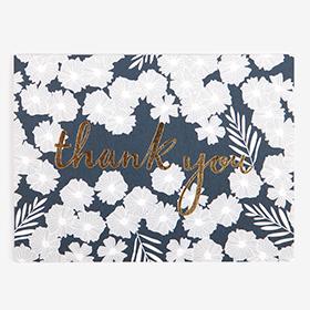 メッセージカード  20 Navy - thank you 【グリーティング】【ラッピング】【ミニサイズ】