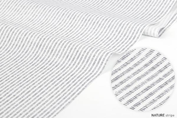 NATURE-stripe  ※幅148cm 【生地・布】【カット販売】【花・植物柄】
