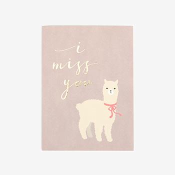 メッセージカード(縦) 04 Alpaca 【グリーティング】【ラッピング】