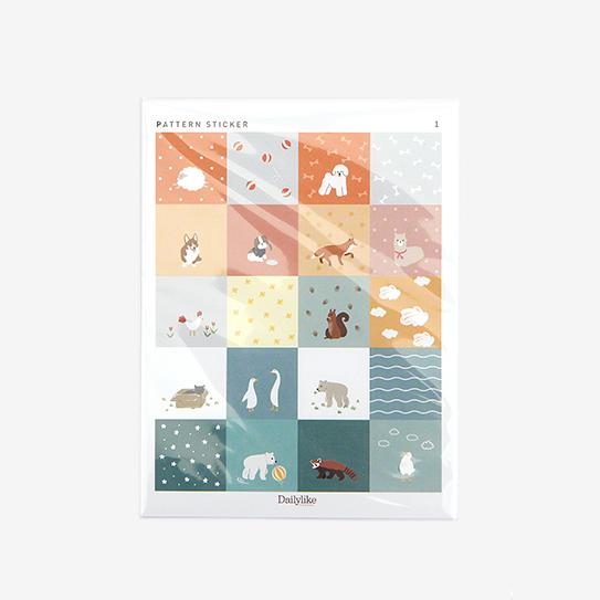 パッチワークステッカー - Animal シール/デコレクションズオリジナル 【メール便OK】