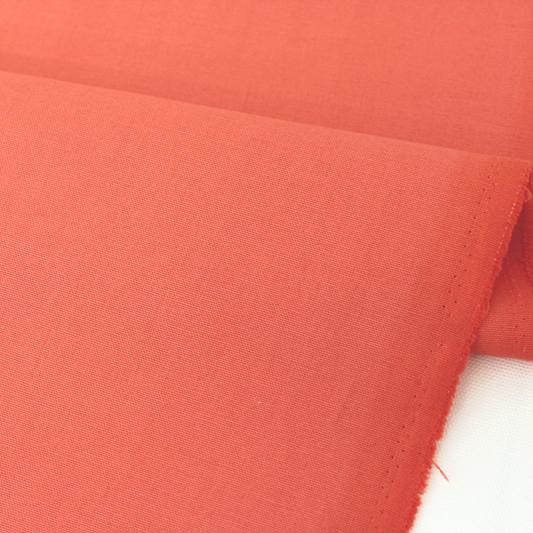 生地・布 ≪ コーラルオレンジ ≫  オックス生地/幅110cm 【10cm単位販売】【メール便OK】 無地