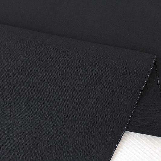 生地・布 ≪ ブラック ≫  オックス生地/幅110cm 【10cm単位販売】【メール便OK】 無地