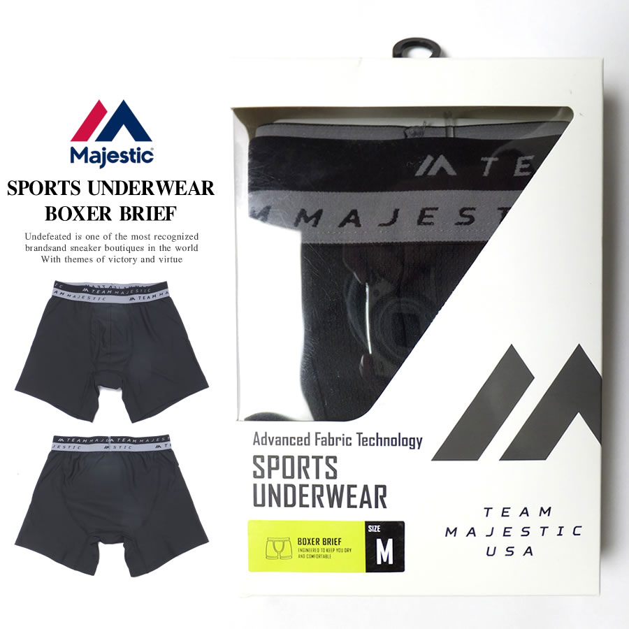 MAJESTIC マジェスティック ボクサーパンツ PACKED UNDER WEAR REGULAR RISE XM13-BLK5-MAJ0013 7V9296