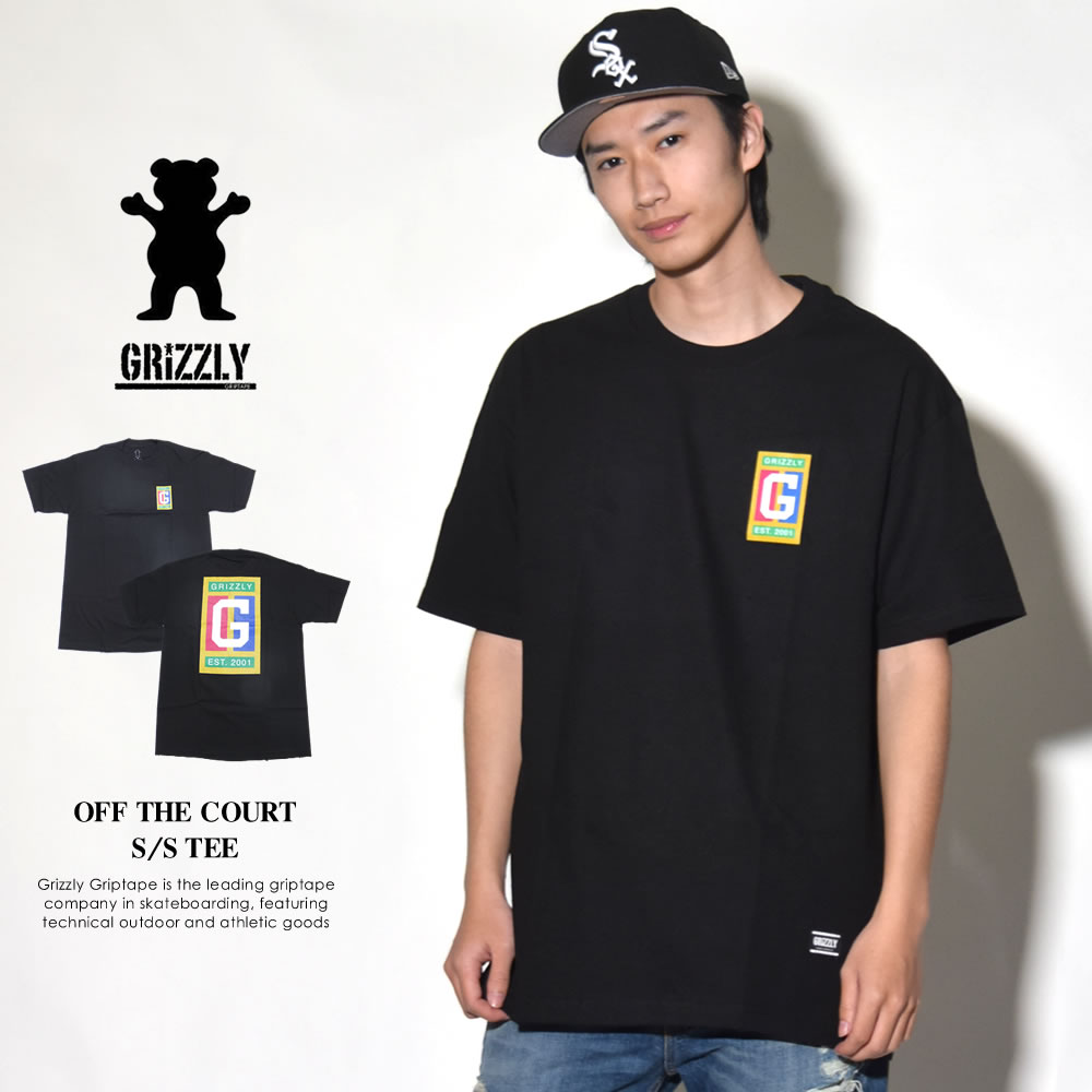 GRIZZLY グリズリー Tシャツ メンズ OFF THE COURT S/S TEE (GMA1801P22)