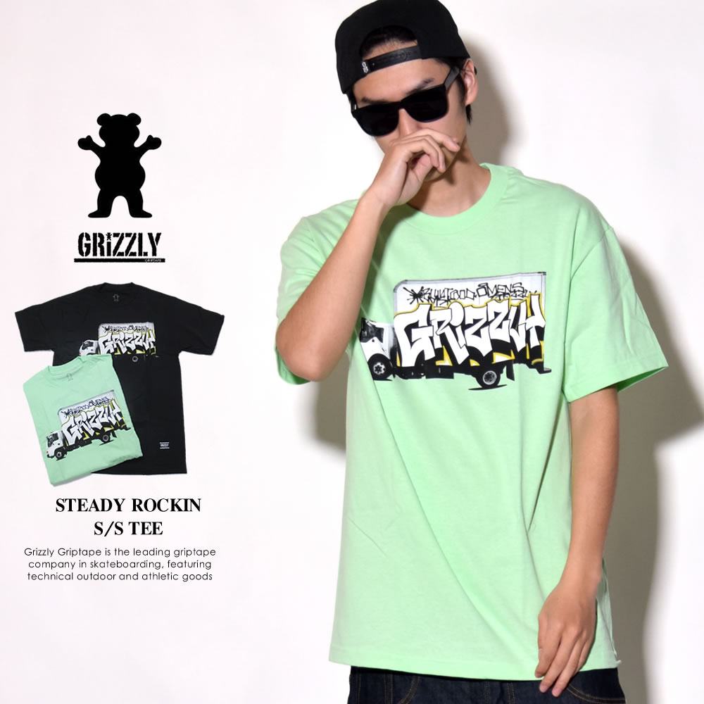 GRIZZLY グリズリー 半袖Tシャツ メンズ STEADY ROCKIN S/S TEE (GMA1801P03)