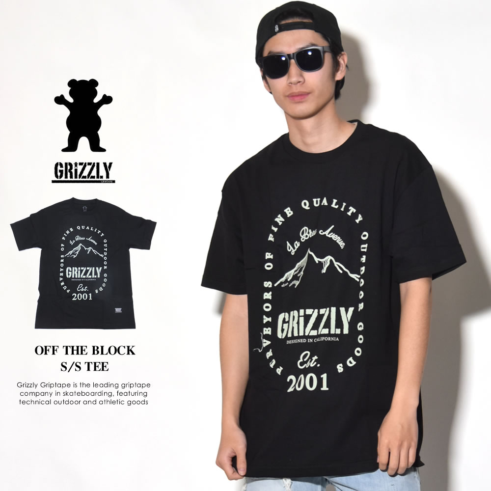 GRIZZLY グリズリー 半袖Tシャツ OFF THE BLOCK S/S TEE (GMA1801P10)